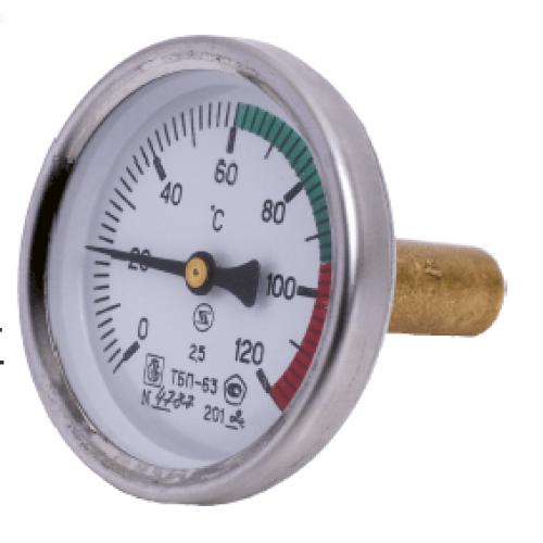 Термометр биметаллический ТБП63/50/Т-(0-120)С